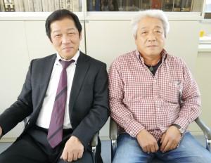 井上和正さん(左)と幸正さん