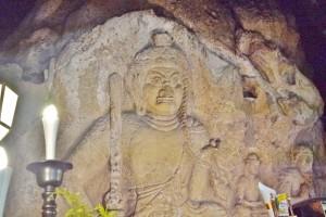 重用文化財の磨崖仏(不動明王像)