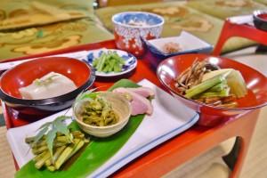 山菜定食そうめん付き(1,700円)