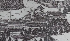 昔の大岩の案内図