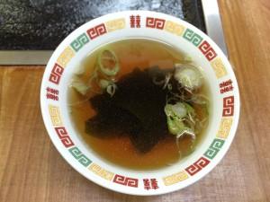 わかめスープ(焼きそばのセット)