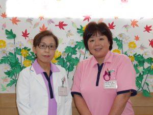 施設長 山本典子さんと看護師長 浄聖陽子さん