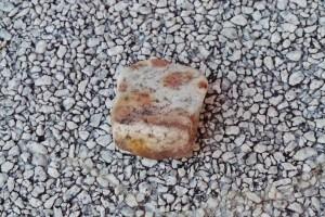 市姫神社の横で見つけた石