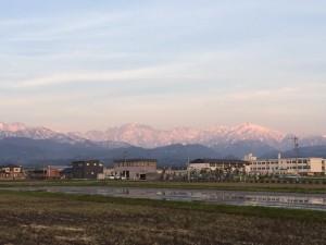 近所から見える立山連峰