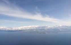 飛行機から初めて見た見事な立山連邦!