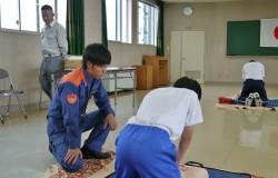 「14歳の挑戦」の普通救命講習