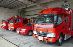 上市消防署の消防車