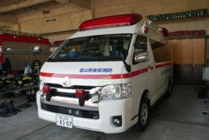 救急車や消防車も毎朝点検している