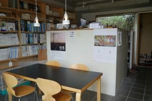 自宅兼事務所の打ち合わせスペース