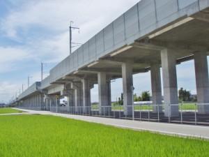 北陸新幹線 有金高架橋工事