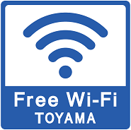 TOYAMA Free Wi-Fiのマーク
