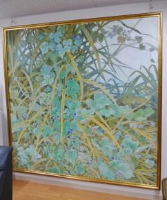 日本画家・坂田潤世さんの絵が飾られている