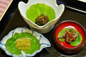 山ふき三昧(有馬煮・柚子胡椒煮・ふきのとう)