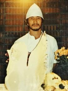大使館時代の35歳の三浦さんが制作した白鳥の氷の彫刻