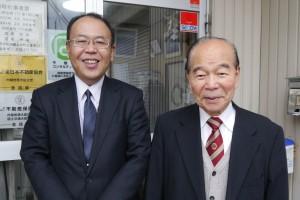 代表取締役会長 富樫宗治さん(右)と 代表取締役社長 真田宏一さん