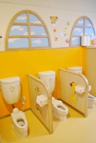 清潔でかわいらしいトイレ
