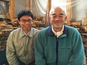 事業担当 坂本 龍生さん(左)と抽出担当 上野 起与人さん