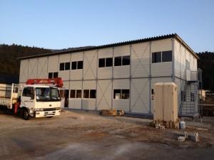 片貝川の発電所の工事事務所
