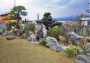 上市町の和風の庭