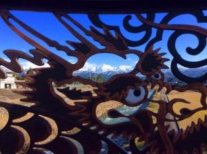 白竜橋から見る剱岳(山田さん撮影)