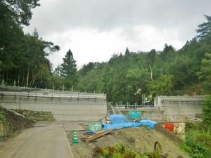 工事中の常願寺川圏域砂防堰堤