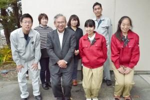 北日本製薬株式会社のみなさん(櫻田さんの右隣が西本初博社長)