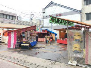 カミール前の西中町商店街駐車場
