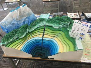 富山湾の深さがわかる模型