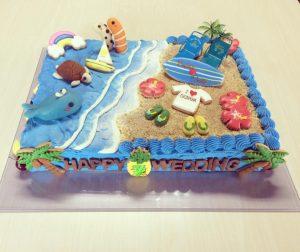 加藤さんの作ったウエディングケーキ