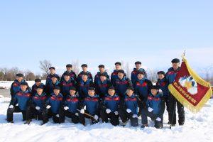 富山県警察山岳警備隊のメンバー。若木さんは中列の左から7番目