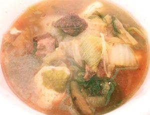 しょうゆ味のくま鍋