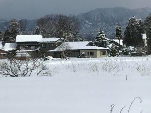 雪の上市町(撮影:クロポッケ黒田直美さん)