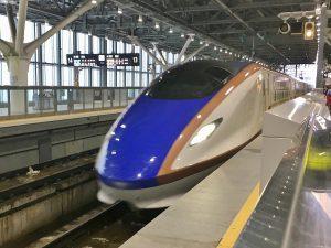 北陸新幹線で東京まで2時間強