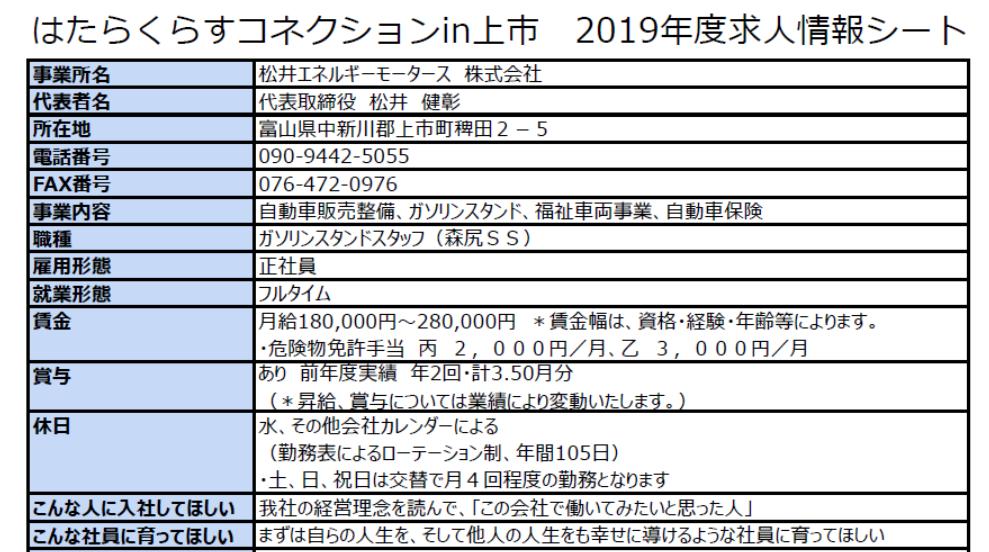 *画像をクリックすると、松井エネルギーモータース株式会社さんの求人情報詳細が開きます。