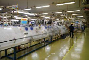 能率アップのための改善が進む上市工場