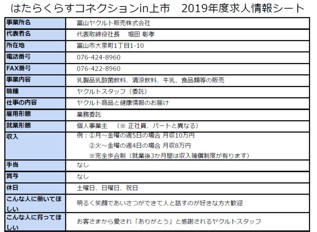 *画像をクリックすると、富山ヤクルト販売株式会社さんの求人情報詳細が開きます。