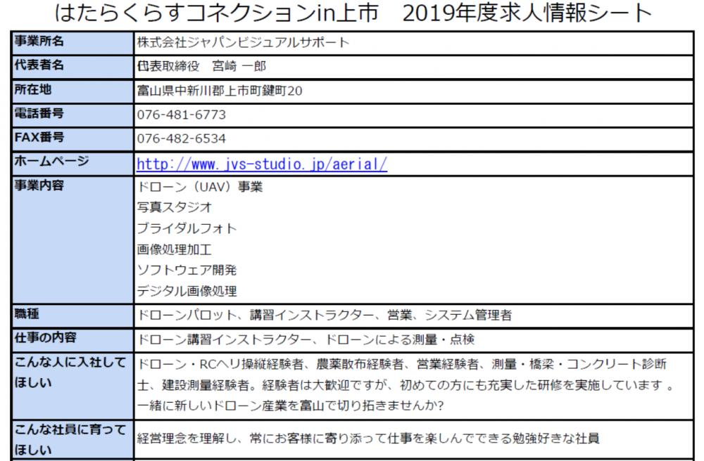 ※画像をクリックすると、株式会社ジャパンビジュアルサポートさんの求人情報詳細が開きます。