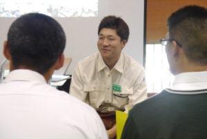 今年、上市高校を卒業して入社した守川さん