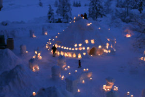 「雪のゆうえんち」前日夜の様子