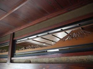 風情ある2階の欄間
