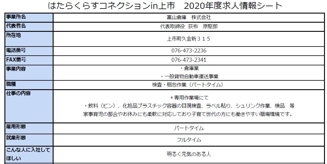 画像をクリックすると、富山倉庫株式会社さんの求人情報詳細が開きます。